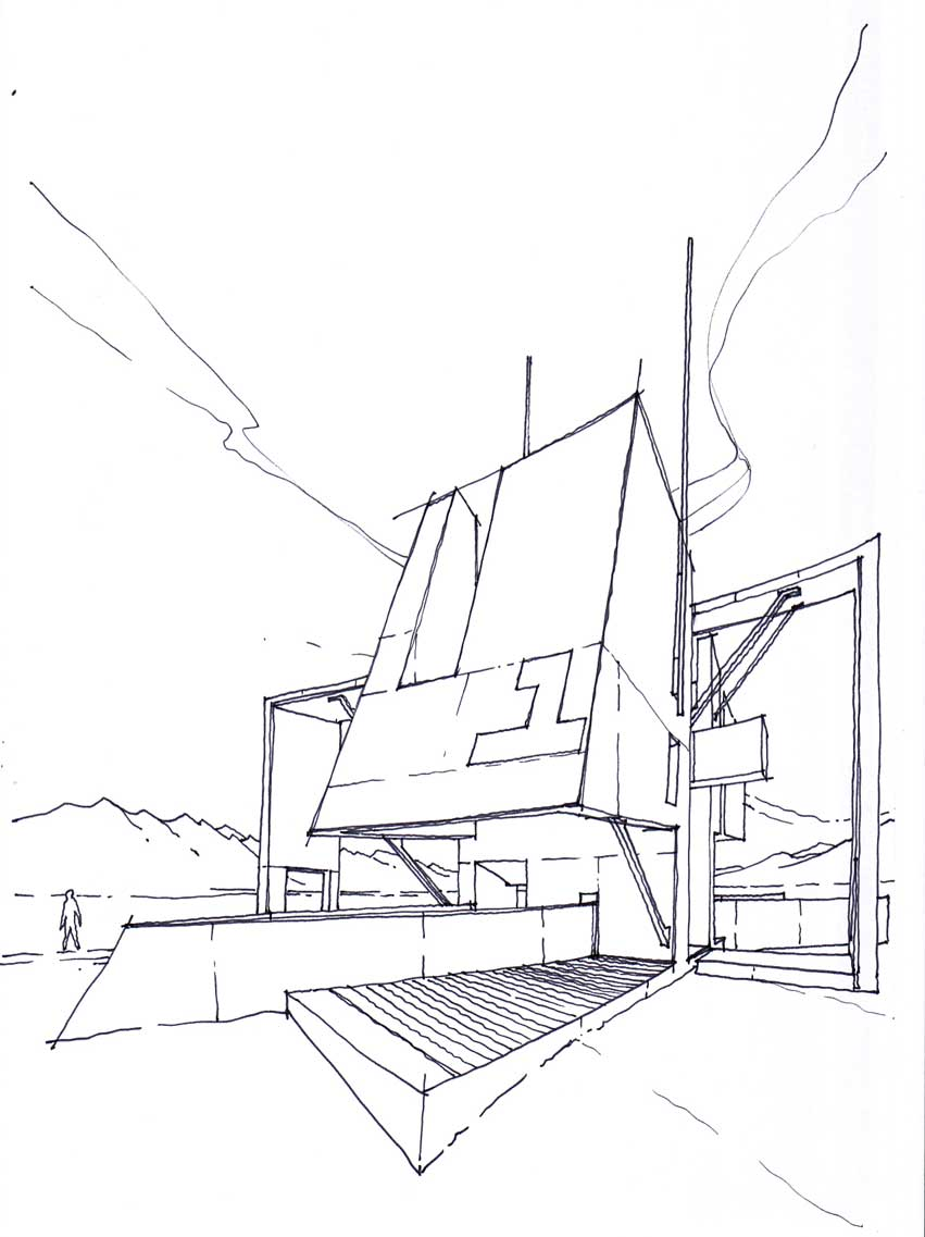 851x1137 The Architecture Draftsman Sketch. Architectural Drawing