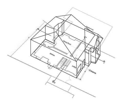500x420 Architectural Drawings Only (Semi Detached Houses) Drawing