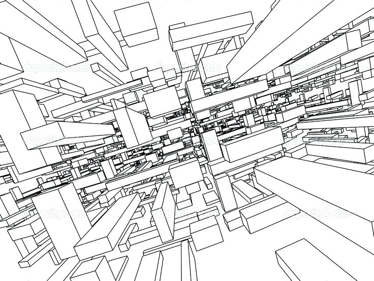 736x552 Architectural Wallpaper Architecture Drawing Wallpaper Background