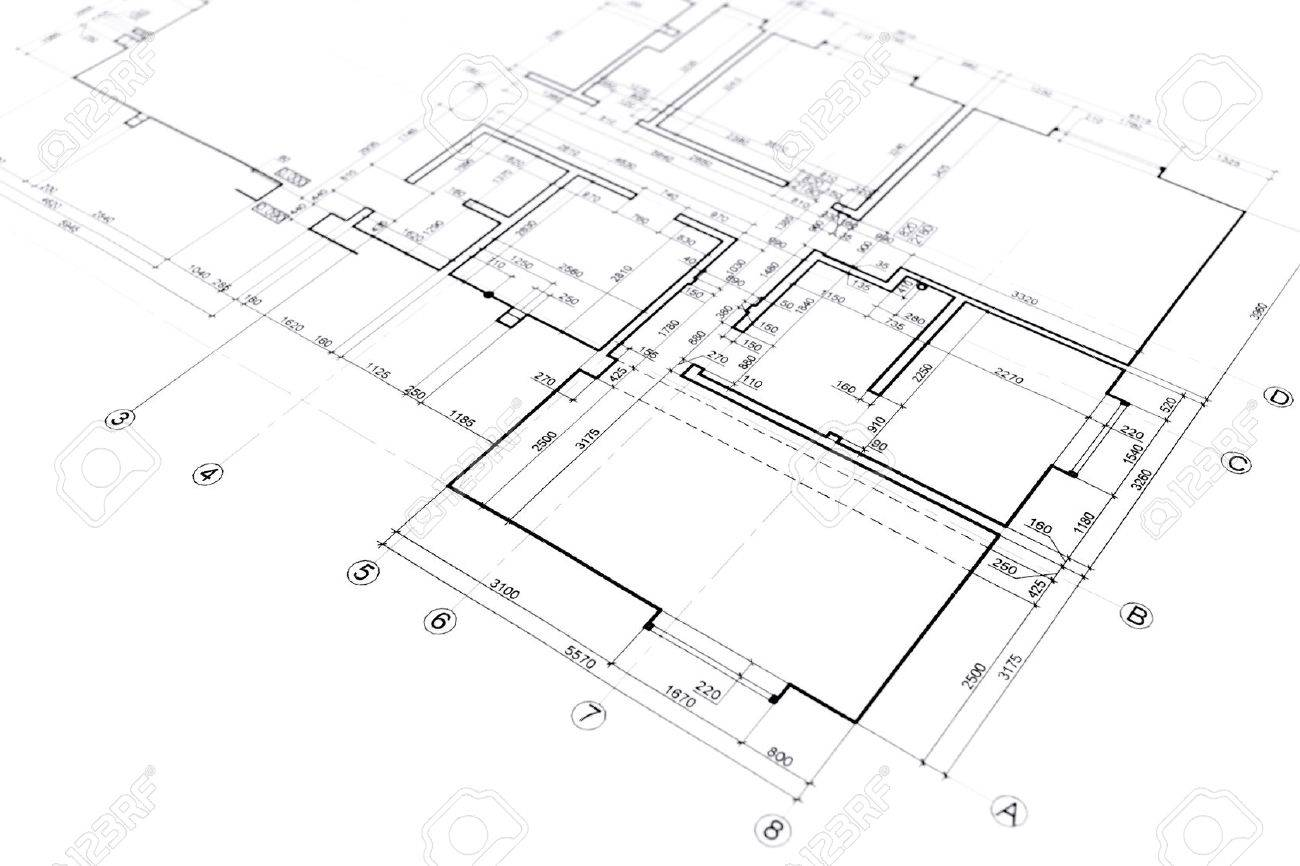 1300x866 House Plan Blueprint Architectural Drawing Part Of Architectural