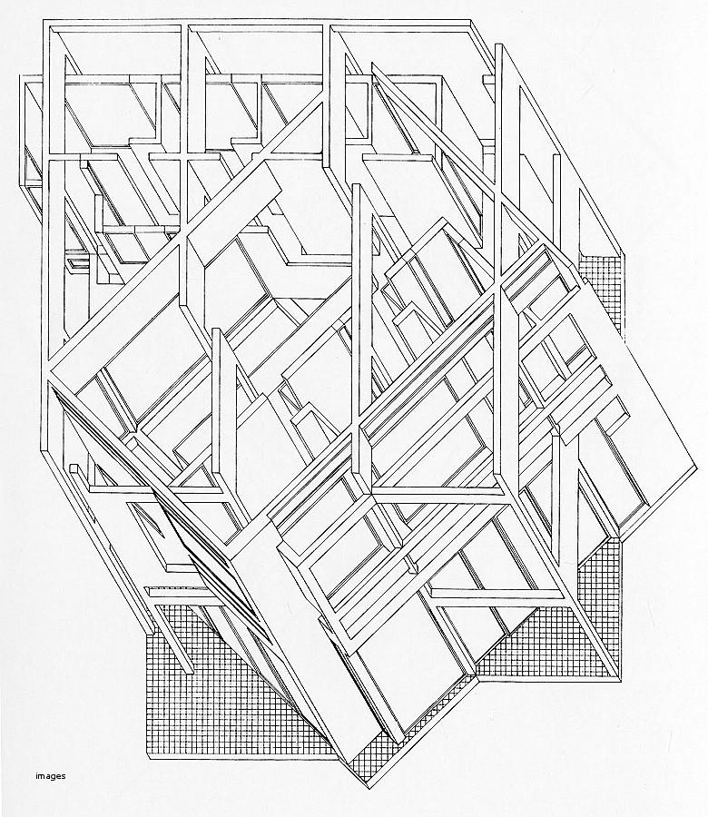 780x900 House Plan. Luxury Peter Eisenman House Vi Plans Peter Eisenman