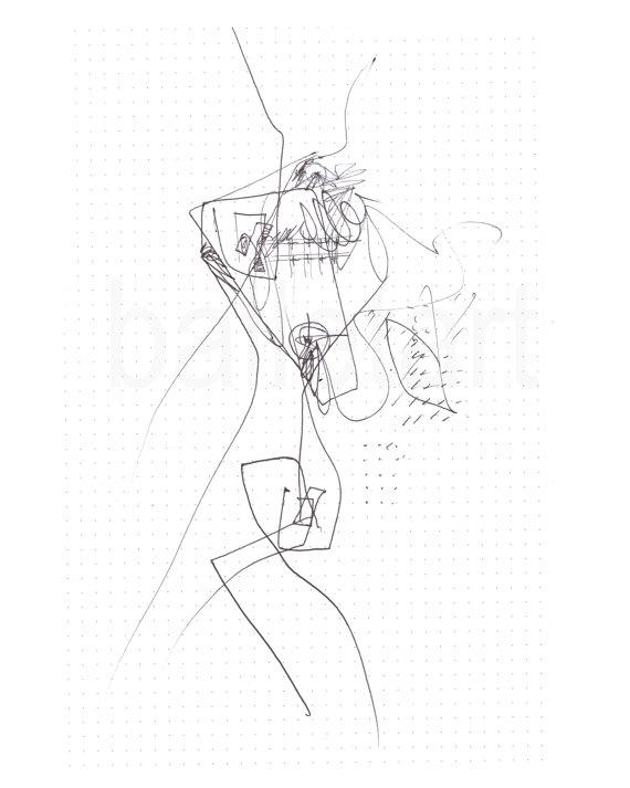 570x713 Architectural Drawing Landscape Architecture Art Print