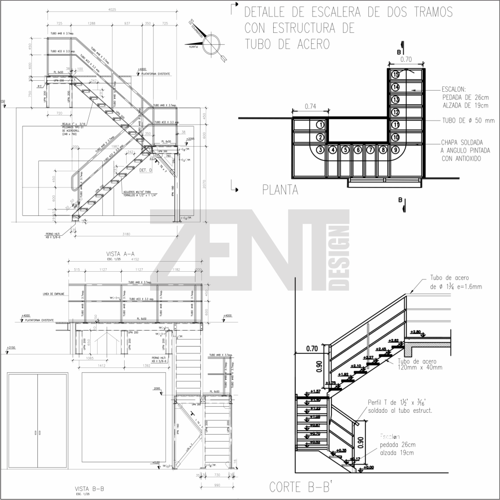 1003x1003 Exterior Stair Detail Drawings