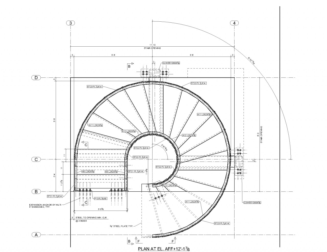 1280x989 Staircase Plan And Section Drawing Staircase Gallery