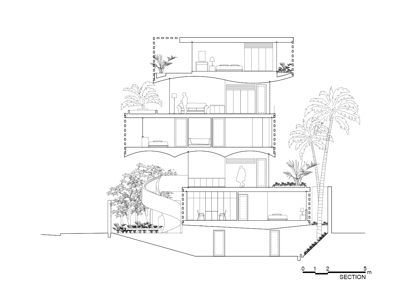 1364x1000 Gallery Of Binh Thanh House Vo Trong Nghia Architects + Sanuki +