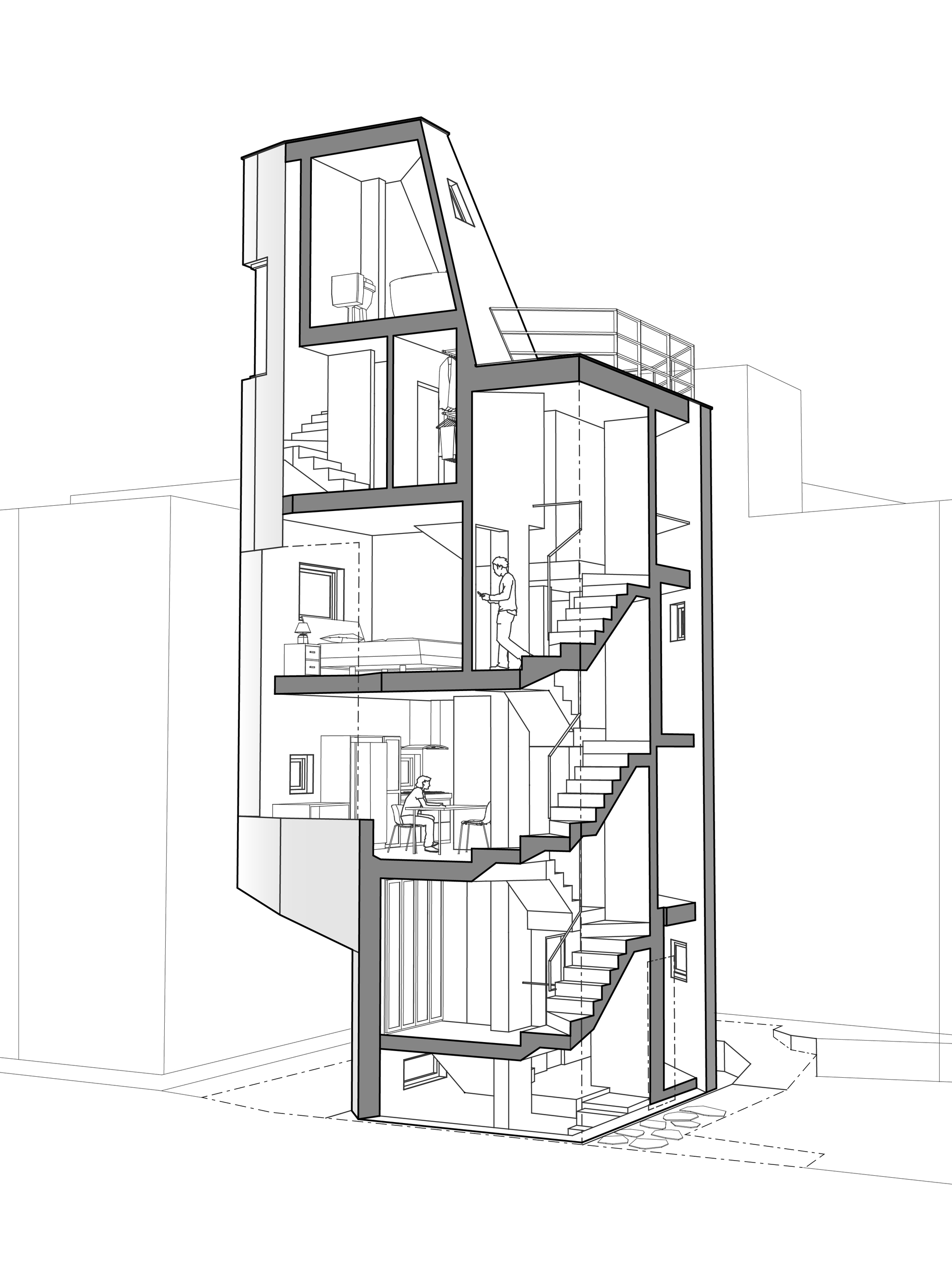 2000x2652 Gallery Of Crevice House Theplus Architects
