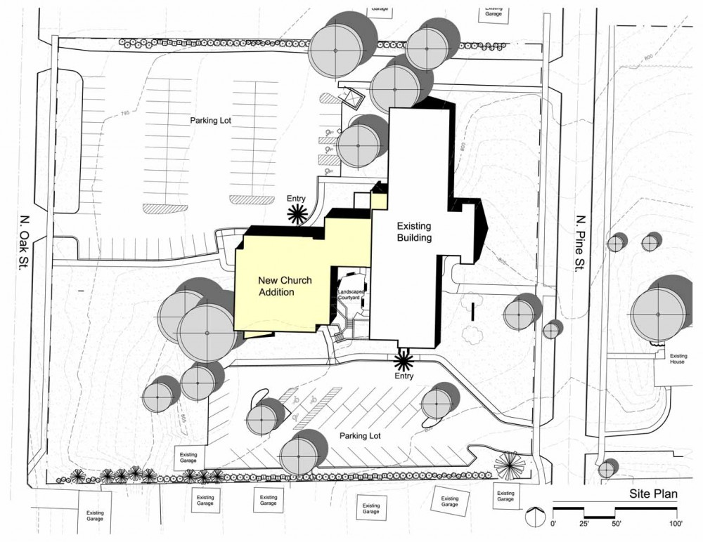 Architectural site plan drawing at free for Draw site plan free