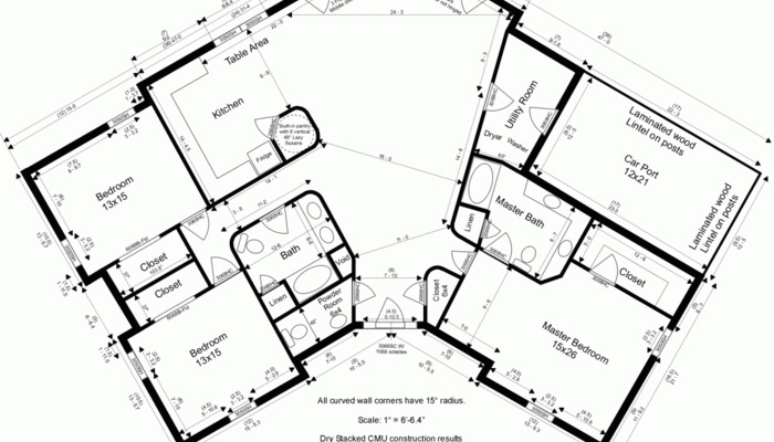 700x400 House Plans Drawing