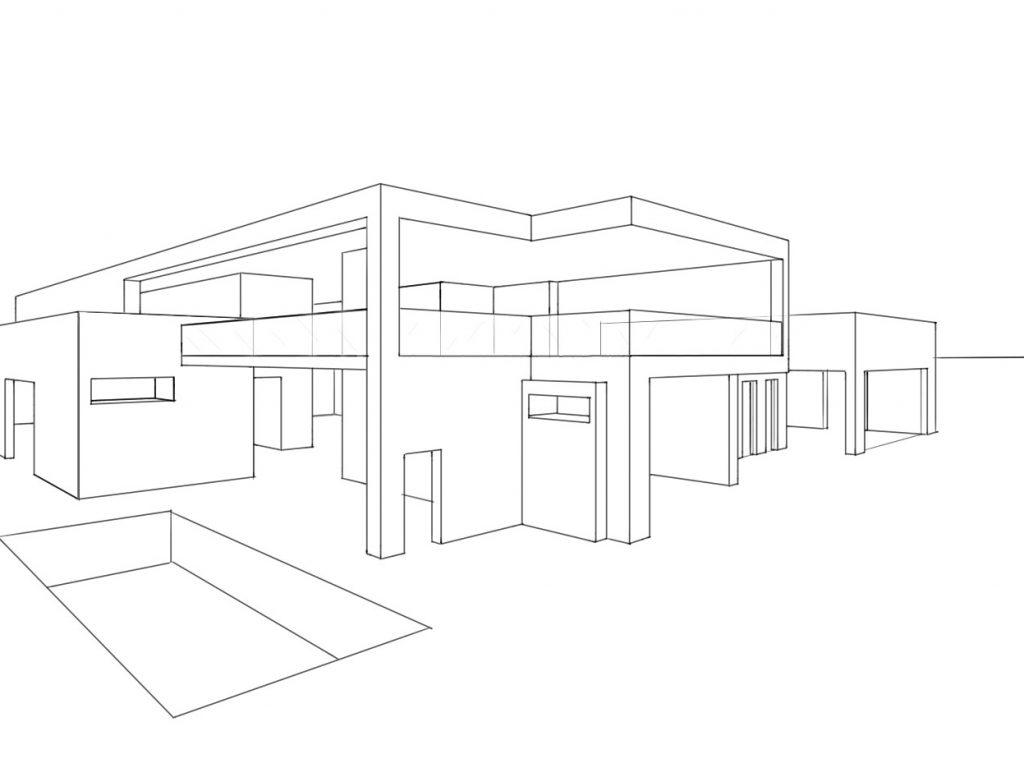 Architecture House Drawing at GetDrawingscom Free for personal