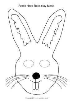 235x333 Arctic Hare Role Play Mask (Sb10263)