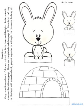 278x350 Arctic Hare Activities By Star Kids Teachers Pay Teachers