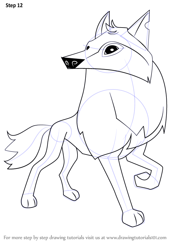 598x844 Learn How To Draw Arctic Wolf From Animal Jam (Animal Jam) Step By