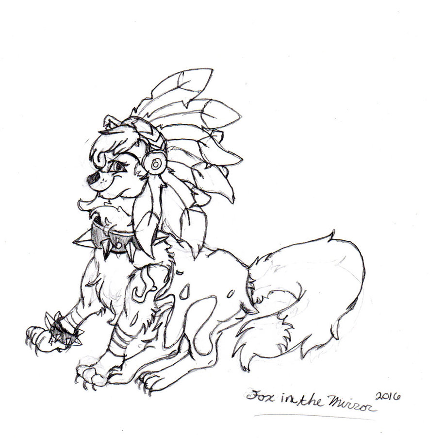 886x902 Rough Sketch Animal Jam Arctic Wolf By Thefoxinthemirror