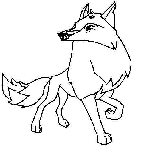 Arctic Wolf Drawing_