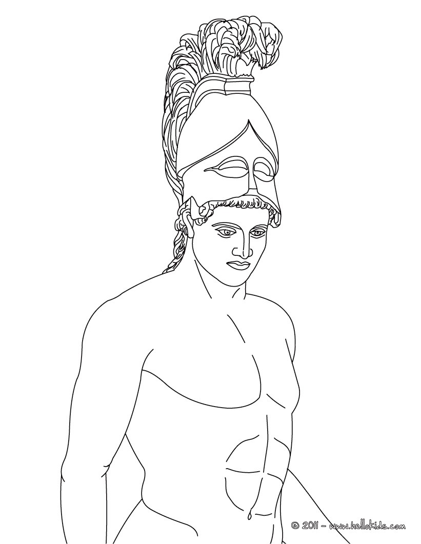 821x1061 Ares The Greek God Of War Coloring Pages
