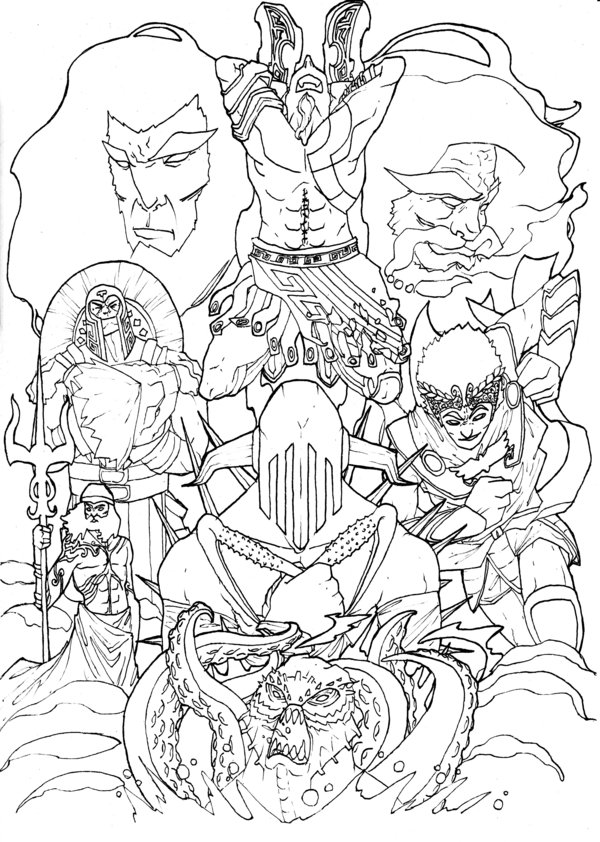 600x842 Coloring Pages Of God Of War