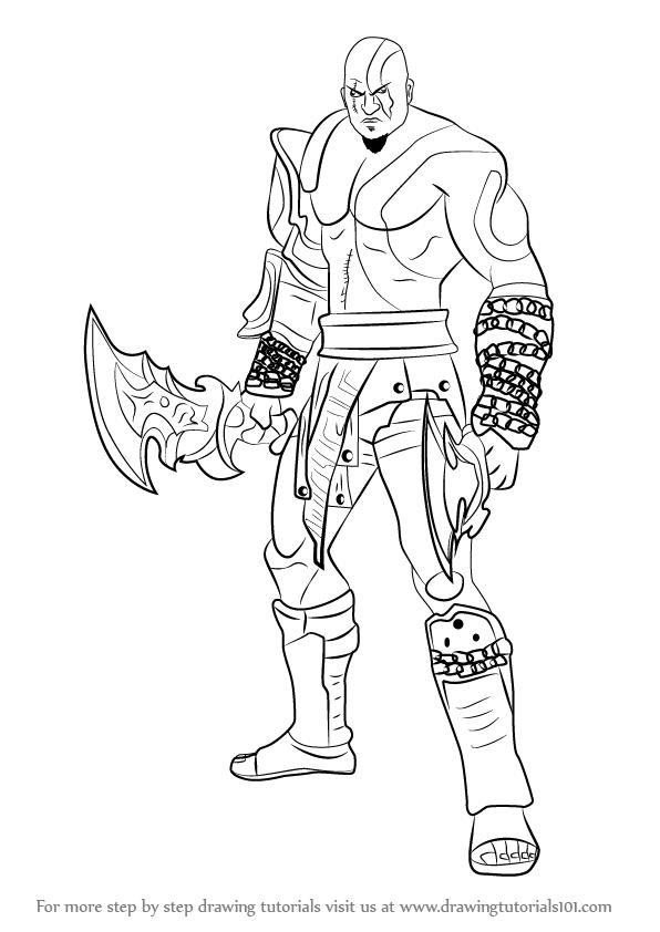 596x842 God Of War Drawing Tutorials