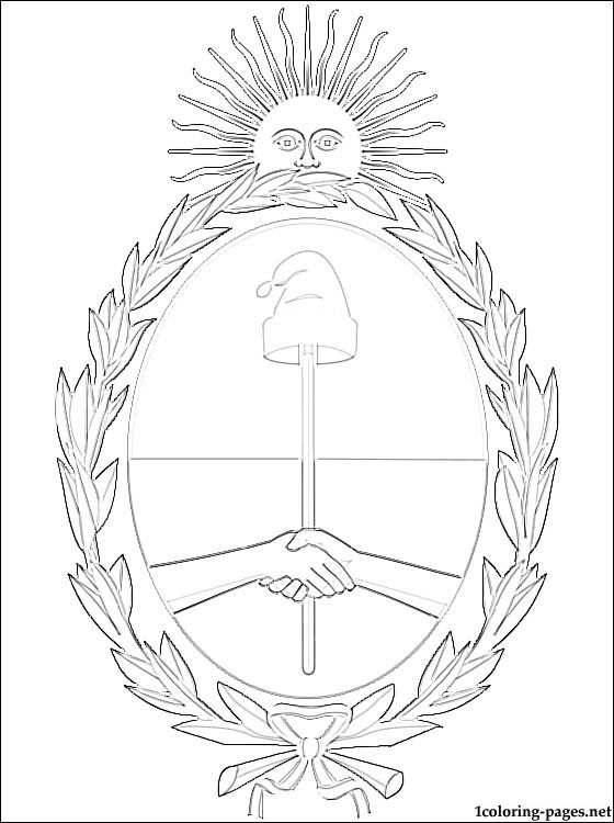 560x750 argentina39s coat of arms coloring page coloring pages