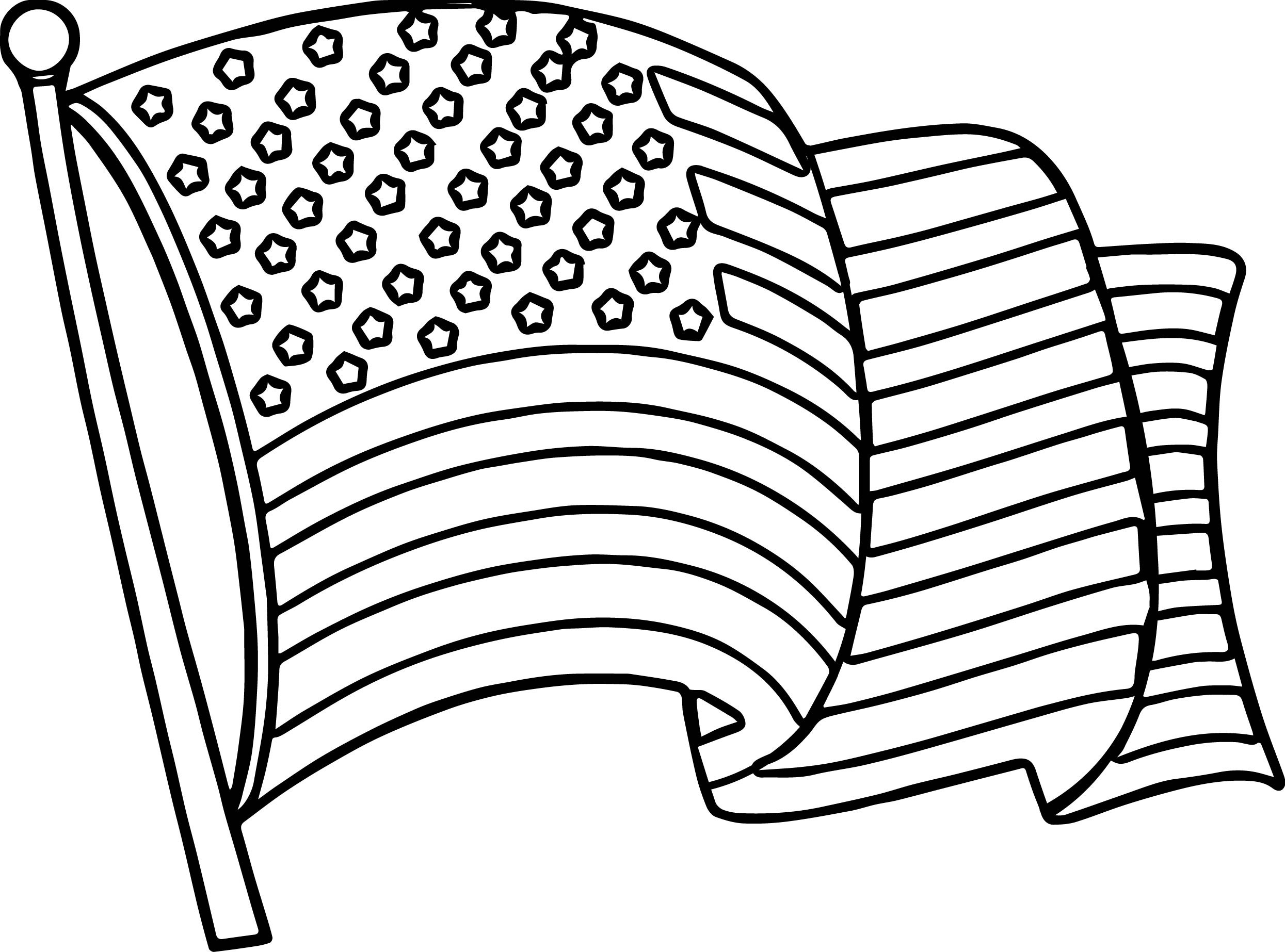2490x1846 Flag Coloring Page Free Draw To Color