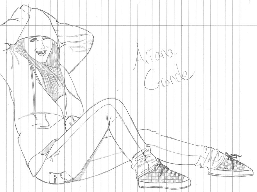 Ariana Grande Drawing At Getdrawings Com Free For Personal Use
