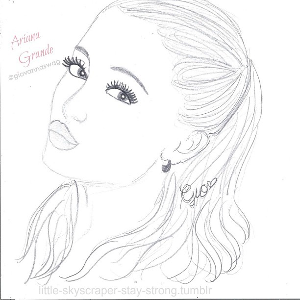 Ariana grande chibi step by step easy drawing for kids 612x612 ink361