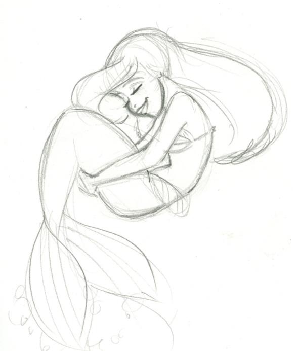 589x692 Ariel Sketch By Trounced By Glen Keane Fans