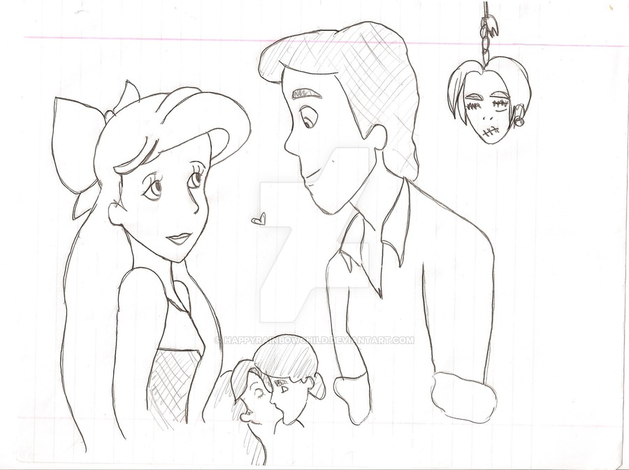 900x672 Eric And Ariel Sketch By Happyrainbowchild