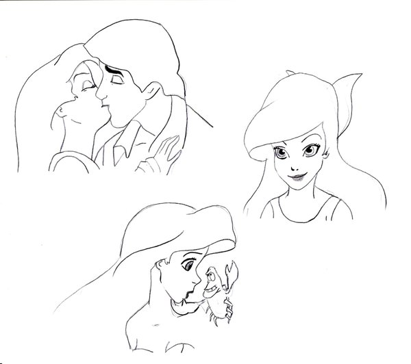 600x532 Ariel Doodles By Disney Princess Yum