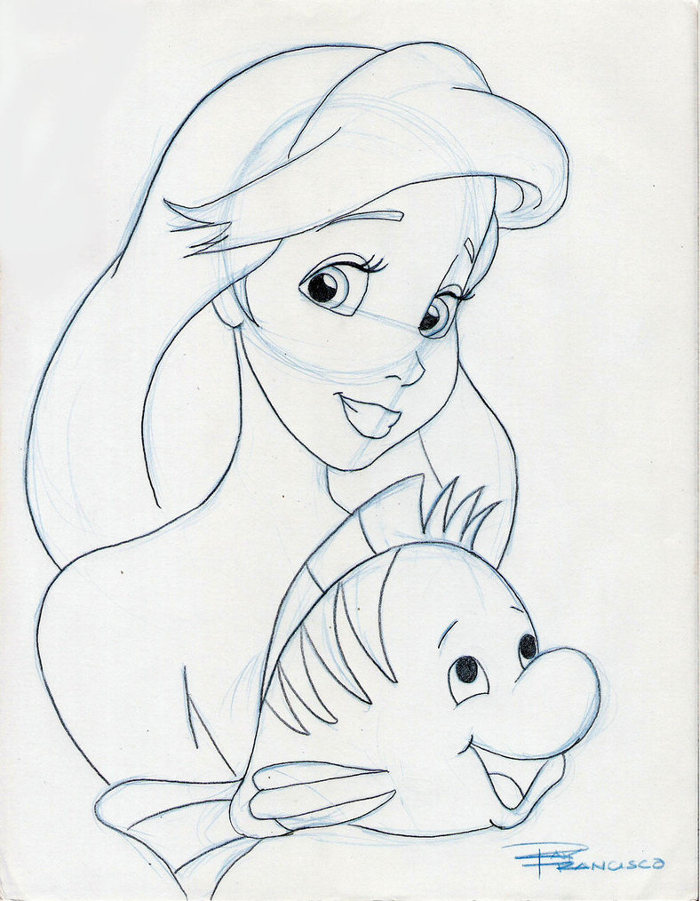 788x1014 Ariel And Flounder By Anime Ray