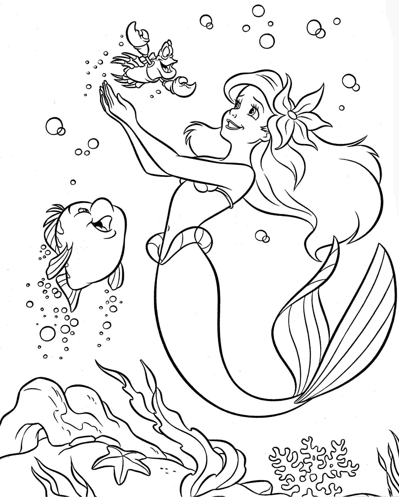1606x2000 Colouring Pages Coloring Pages Disney Princess Little Mermaid