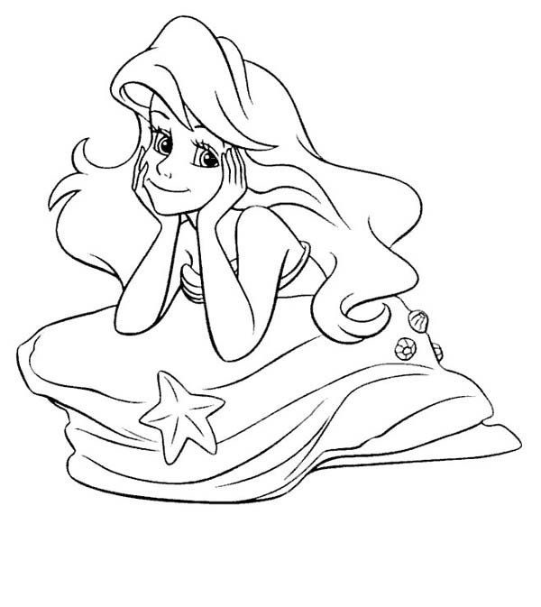 600x673 Black And White Vector Little Mermaid Pictures