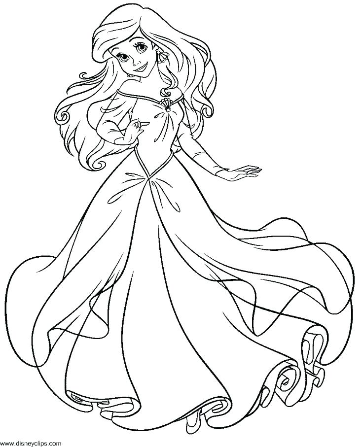 736x907 Ariel Coloring Picture Joandco.co