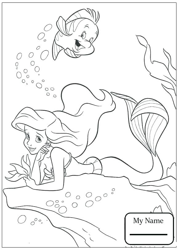 578x810 Ariel Coloring Page Mermaid Coloring Pages Cartoons And Flounder