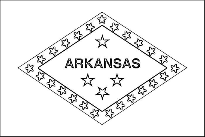 700x468 Arkansas Flag Coloring Page Purple Kitty