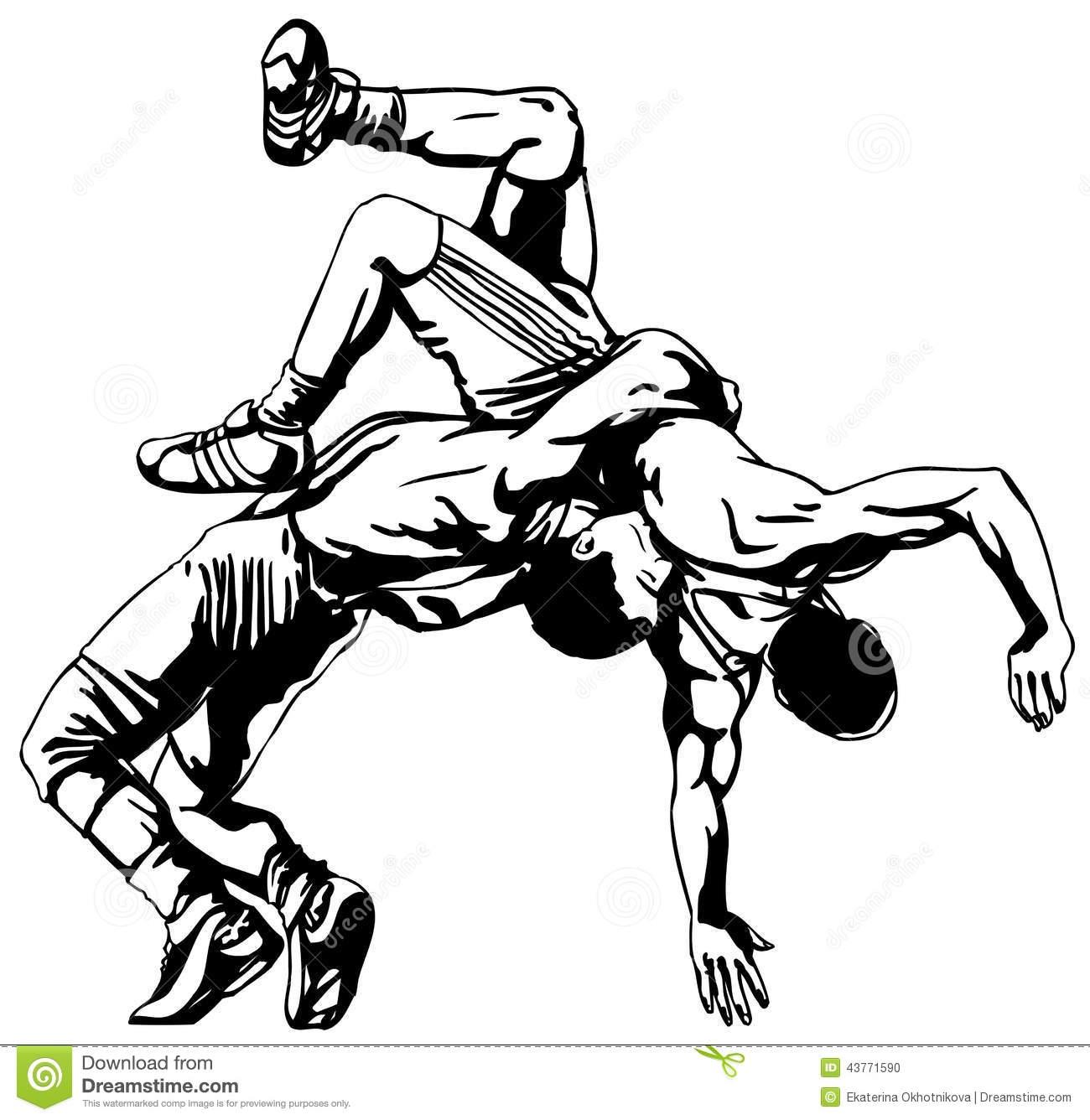 Arm Wrestling Drawing
