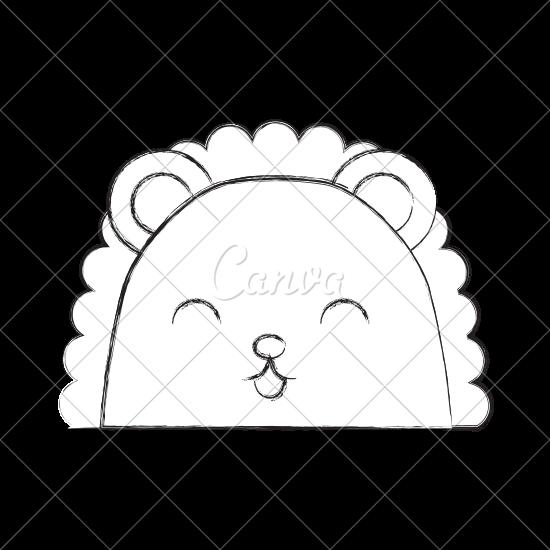 550x550 Cute Sketch Draw Armadillo Face Cartoon