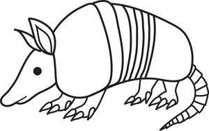 300x189 Free Armadillo Clip Art Image Black And White Cartoon Clip Art