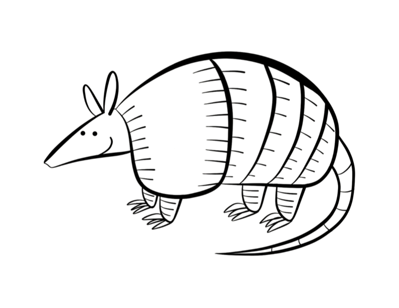 Armadillo Drawing at GetDrawings.com   Free for personal use ...