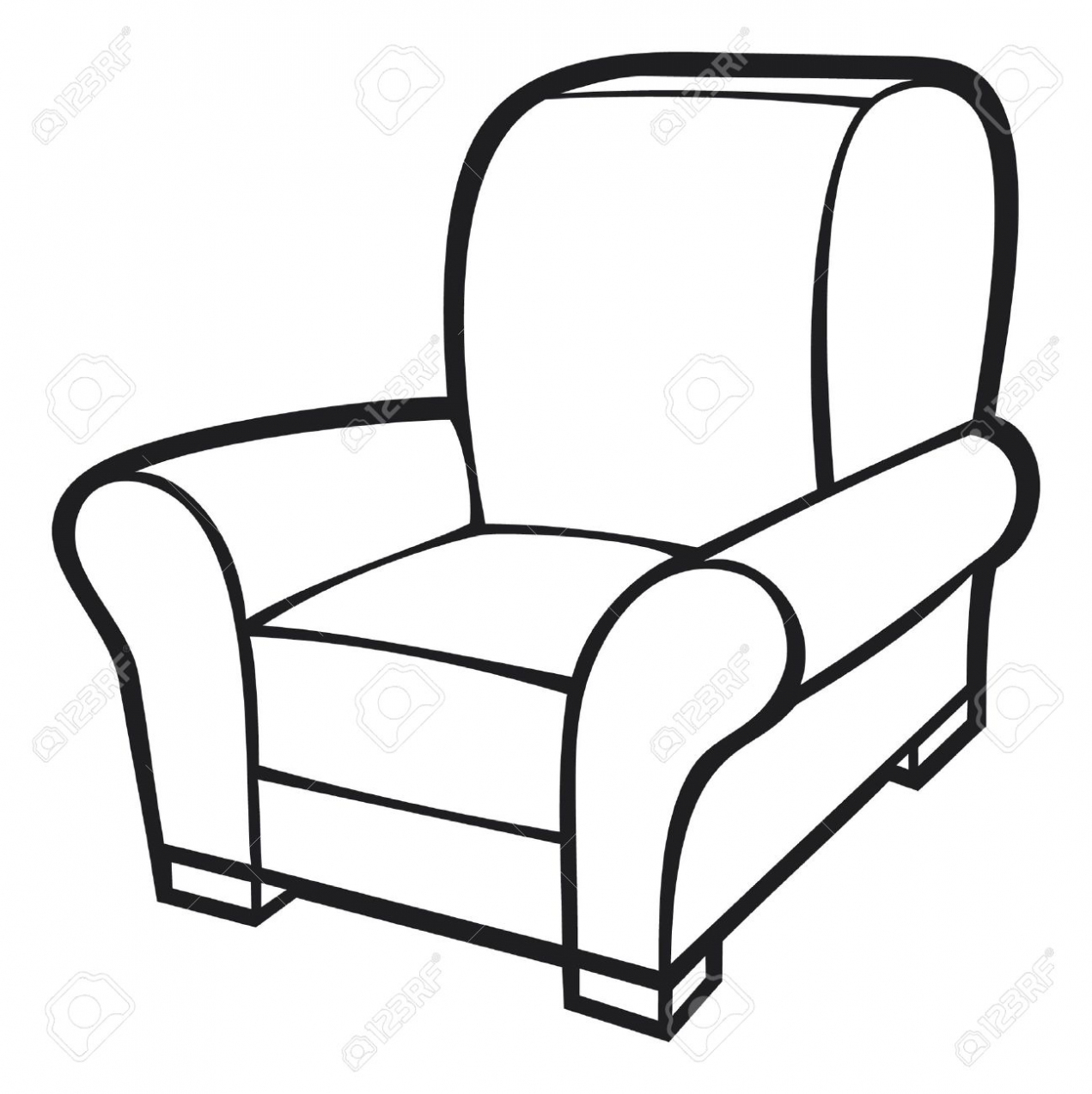 1271x1274 Furniture Armchair Drawing. Armchair. Drawing.
