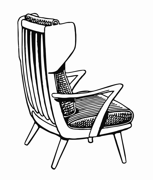 525x617 Wooden Armchair Printable Image Illustration Sketch For Wooden