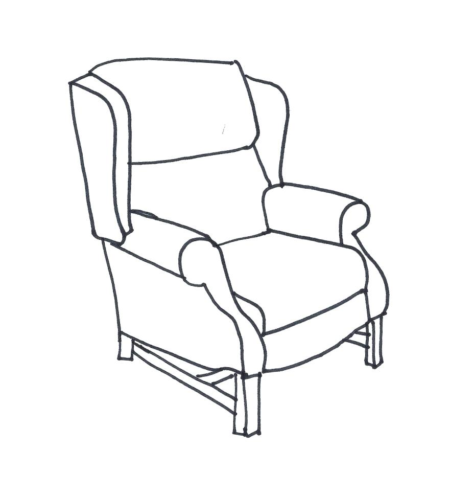 881x968 How To Draw A Armchair Smarthomeideas.win
