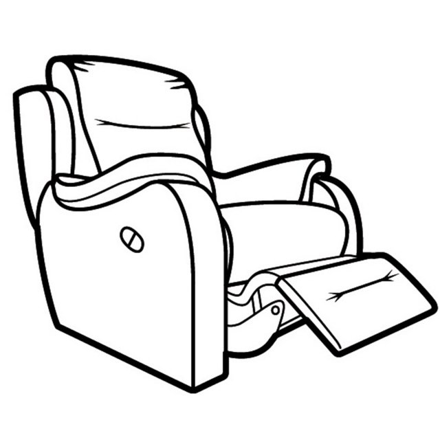 640x640 Boston Armchair Power Recliner With 2 Button Switch
