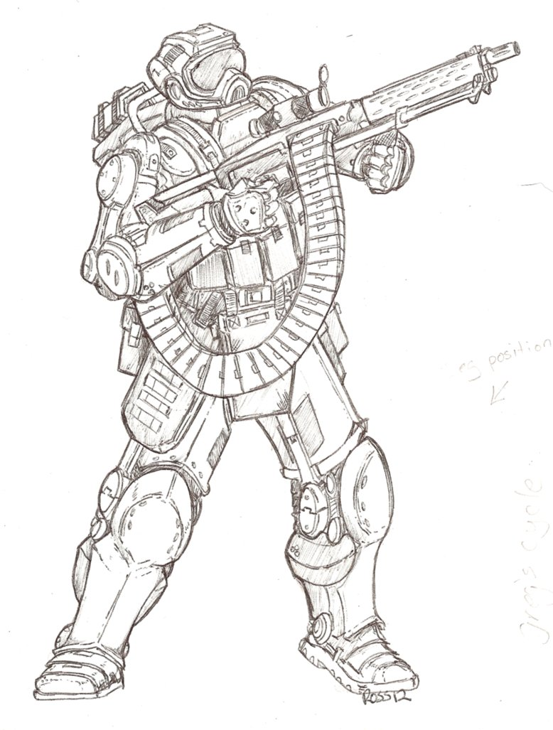 778x1027 Another Power Armor Drawing. By Themuffinkingxxx