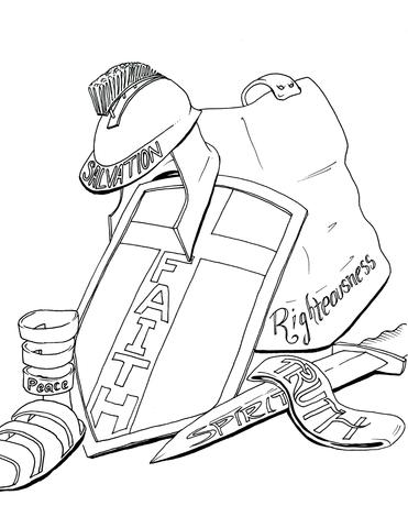 371x480 Armor Of God Coloring Page Children's Ministry Deals