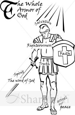 253x388 Armor Of God Word Art Spiritual Battle Word Art