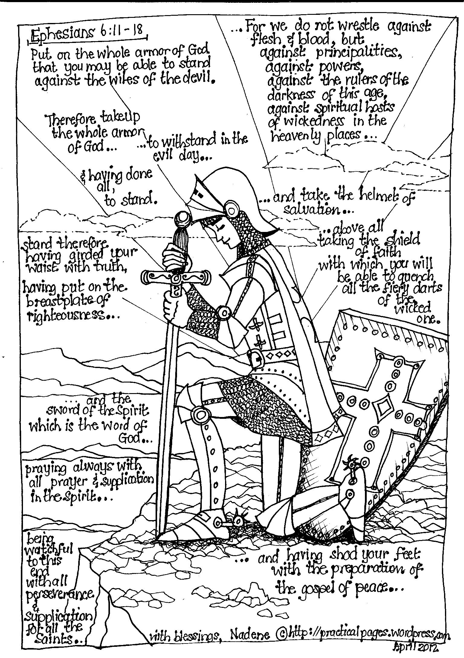 1536x2176 Armor Of God ~ Young Man Practical Pages