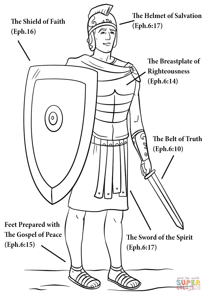 824x1186 Armour Of God Coloring Page Free Printable Coloring Pages