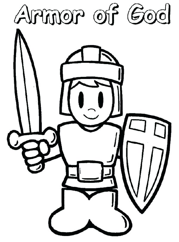 600x812 Announcing Armor Of God Coloring Pages To Print Page