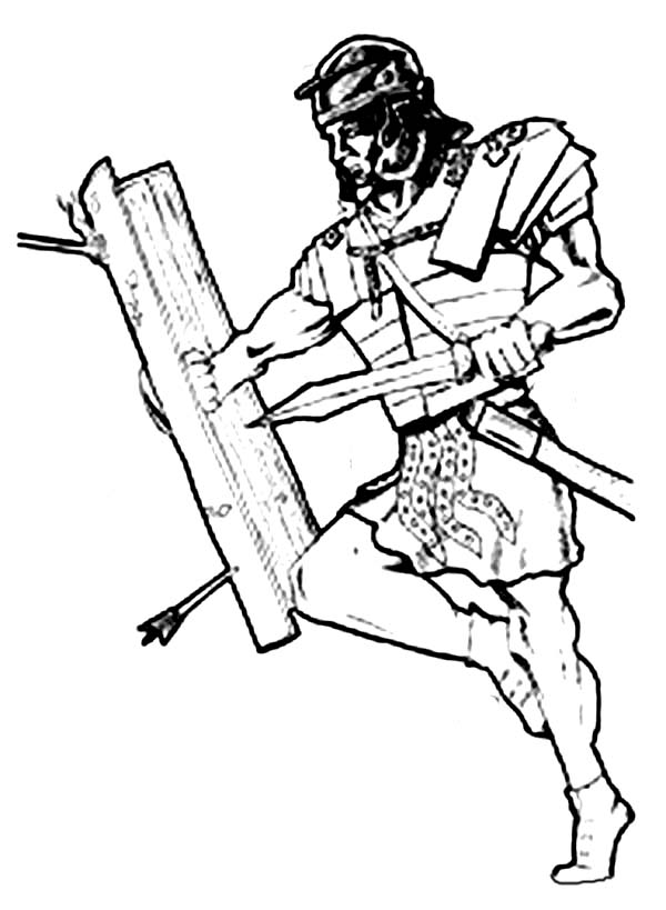 600x819 Brave Warrior Fighting Using Armor Of God Coloring Page Coloring Sun
