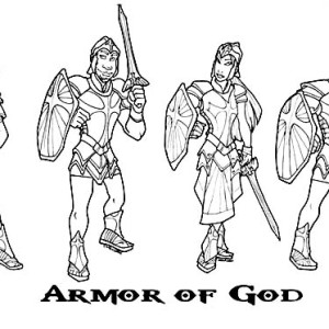 300x300 How To Draw Armor Of God Coloring Page Coloring Sun